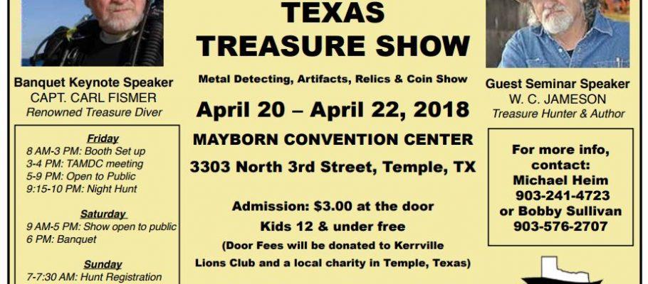 Texas Treasure Show April 20-22,  2018